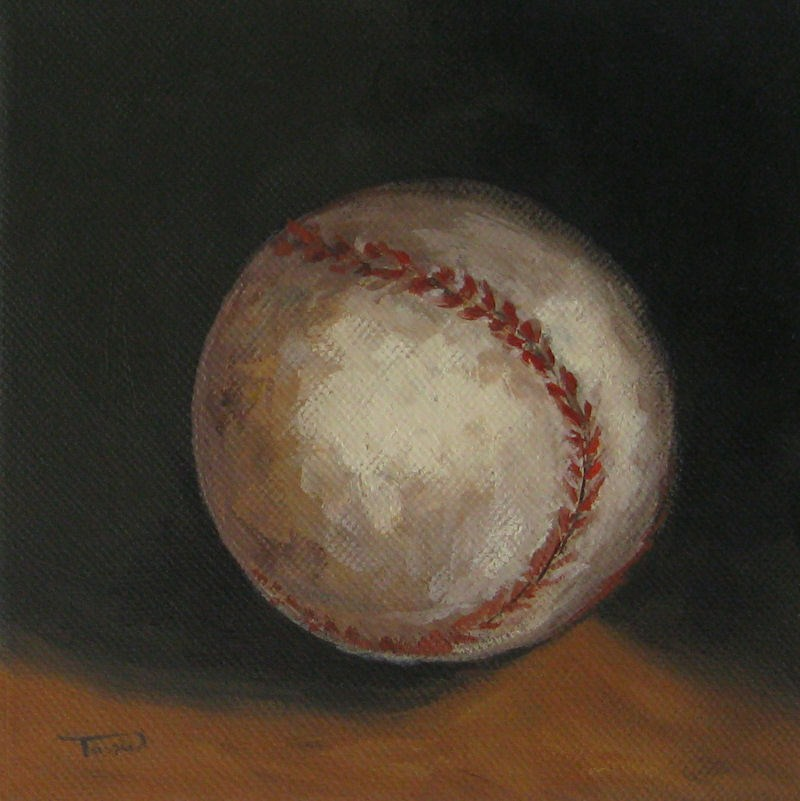 """Baseball"" original fine art by Torrie Smiley"