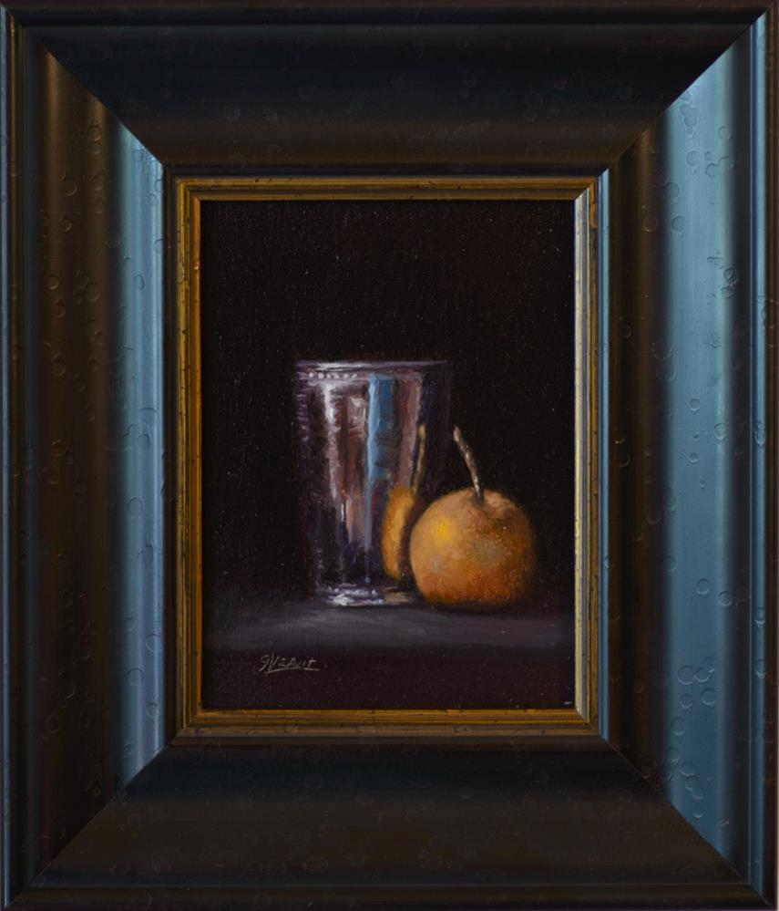 """Asian Pear with Silver Cup (Abbey Ryan Workshop)"" original fine art by Garry Kravit"