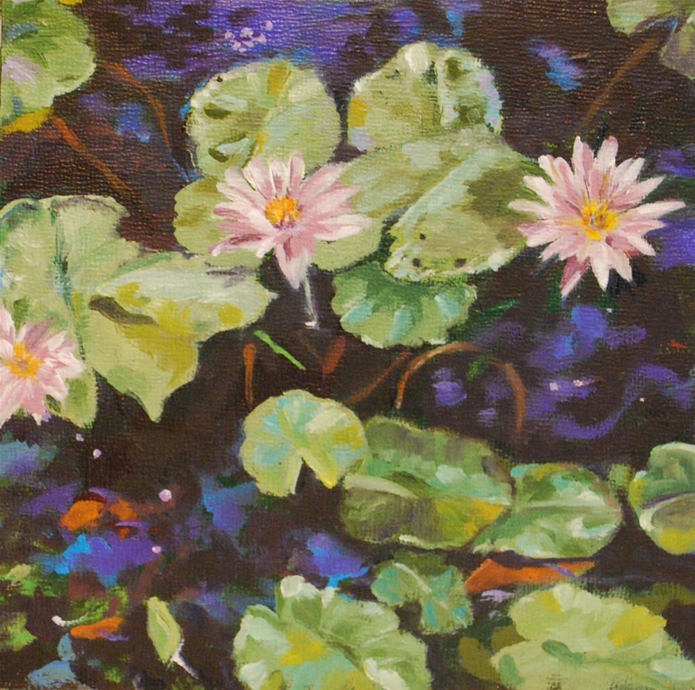 """Goldfish pond"" original fine art by Beverley Phillips"