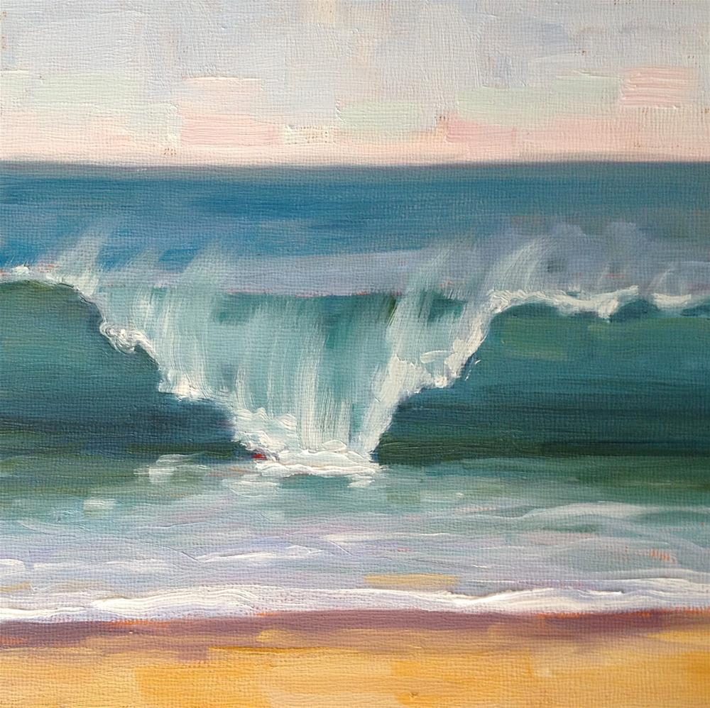"""Laguna Wave"" original fine art by Deborah Newman"