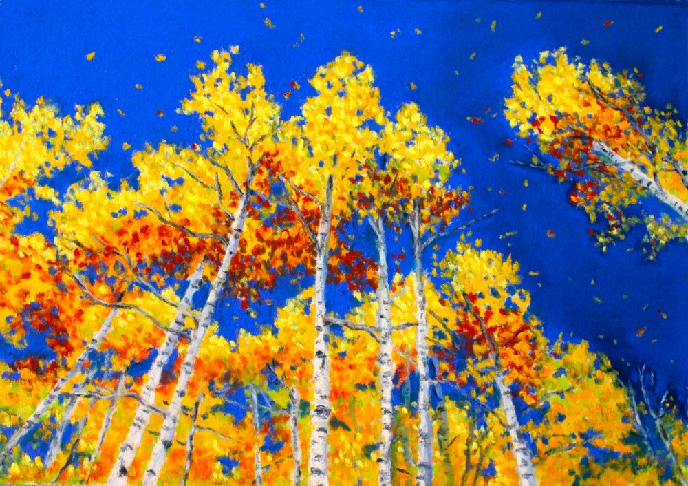 """Gold in the Wind"" original fine art by Jill Bates"