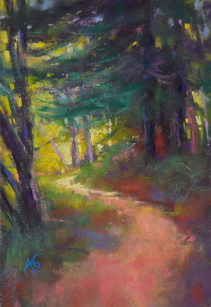 """Path in the forest 1 SALE"" original fine art by Alejandra Gos"
