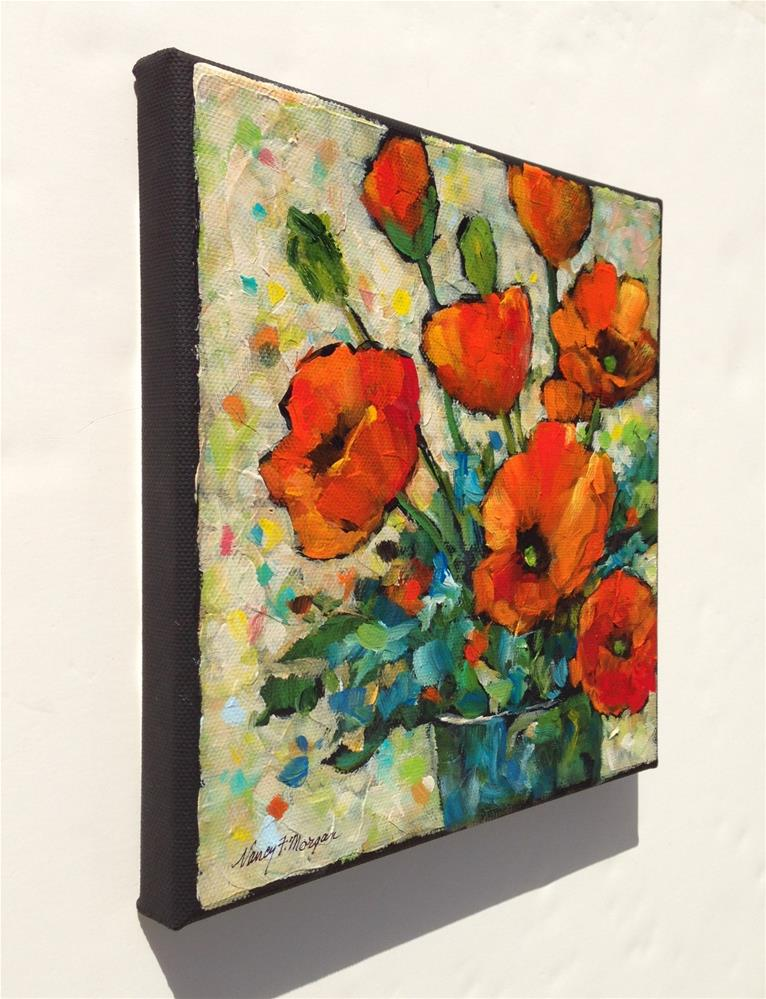 """Confetti Poppies"" original fine art by Nancy F. Morgan"