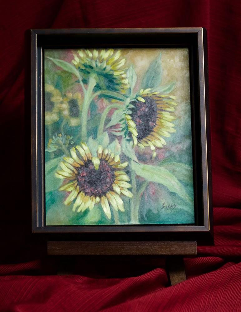 """Sunflower Field"" original fine art by Linda Eades Blackburn"