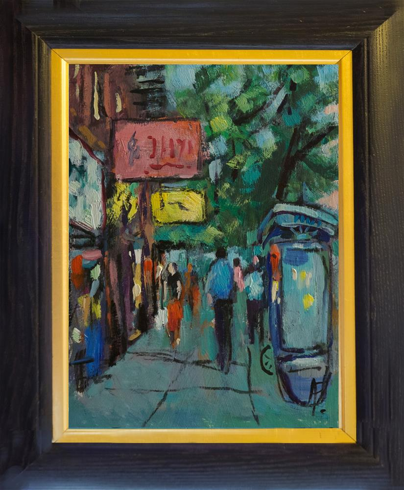 """Signs in NYC"" original fine art by Andre Pallat"