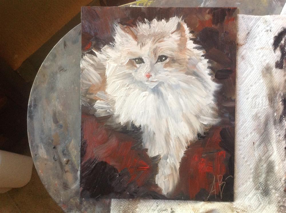 """Norwegian  Forest Cat"" original fine art by Annette Balesteri"