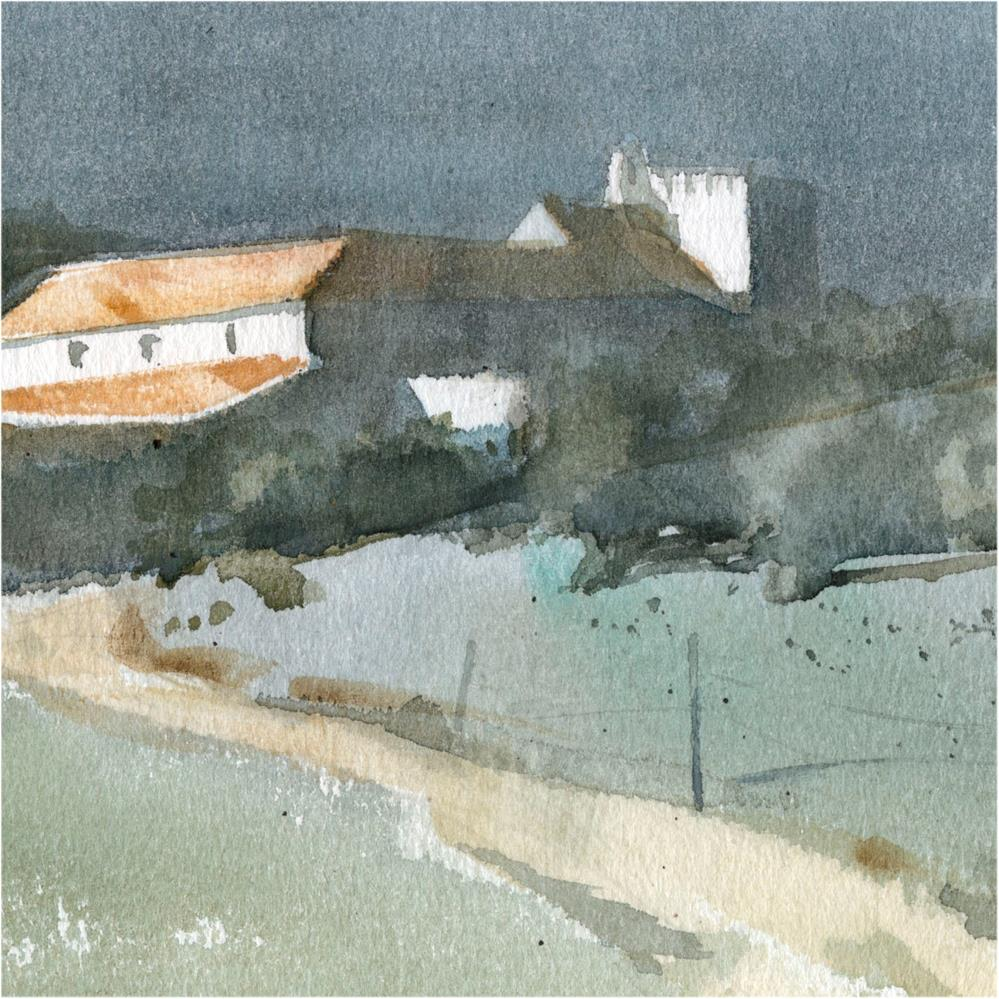 """Seville countryside 12"" original fine art by Emilio López"