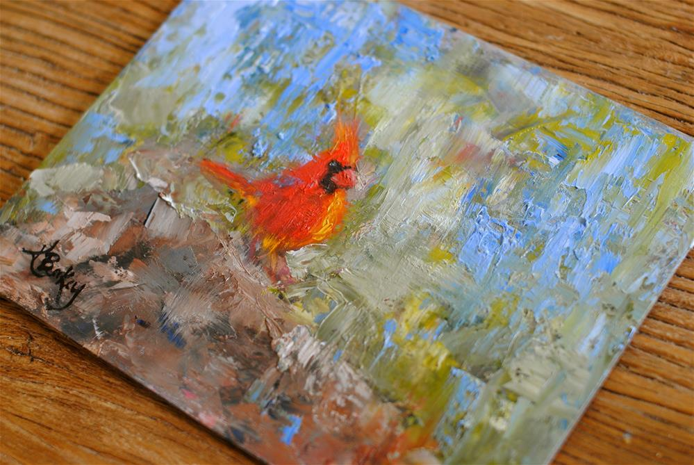 """Big Red"" original fine art by Kelly Berkey"