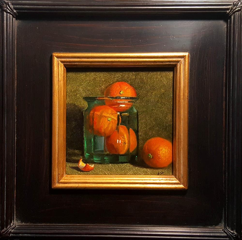 """Oranges in Glass Jur"" original fine art by Natalia Clarke"
