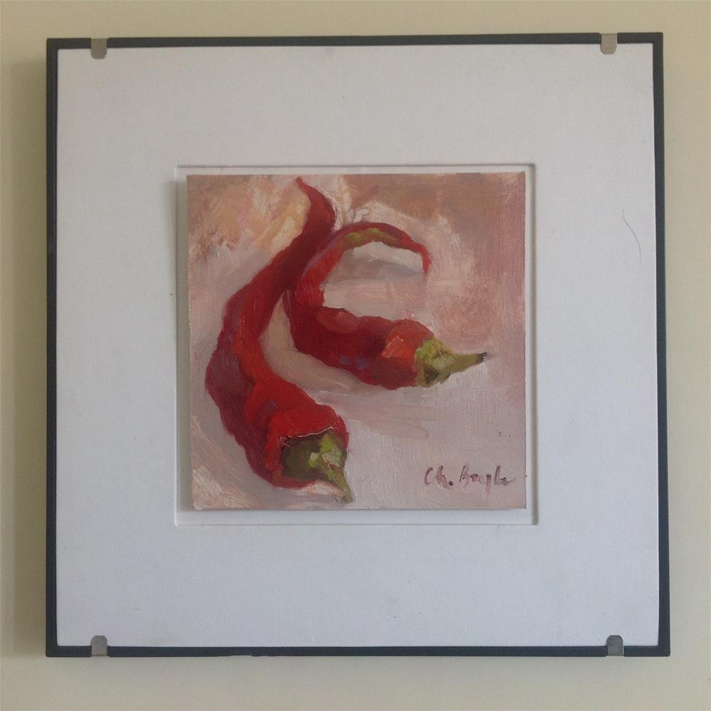 """Red sweet pepper"" original fine art by Christine Bayle"