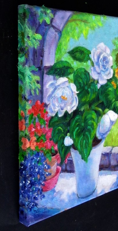 """Shade Loving Flowers"" original fine art by Patricia Musgrave"
