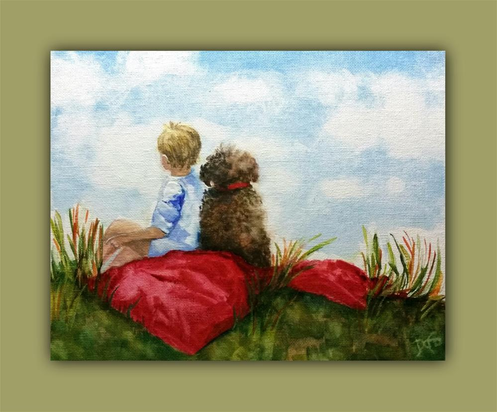 """My Best Friend"" original fine art by Dana C"