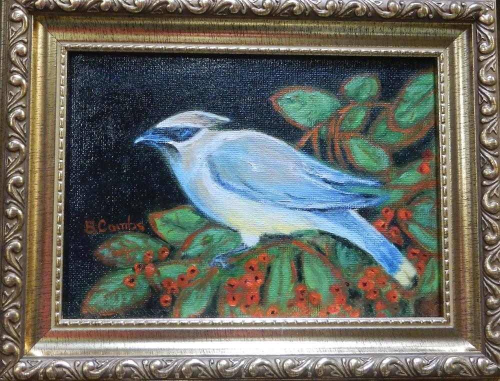 """""""Cedar Waxwing"""" original fine art by Bebe Combs"""