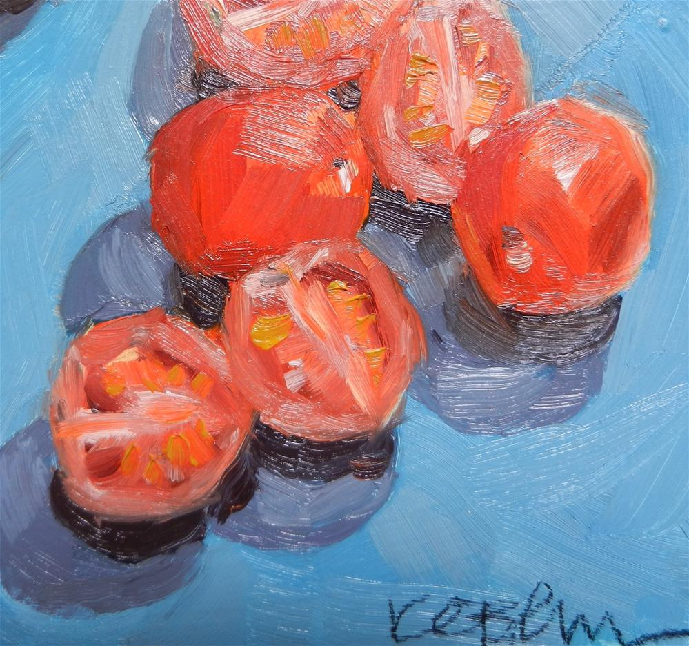 """Cherry tomatoes"" original fine art by Kathy Broyles"