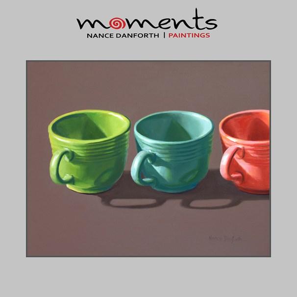 """""""Fiesta Cups in a Row"""" original fine art by Nance Danforth"""