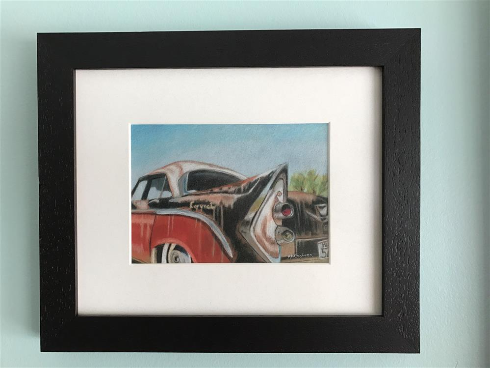 """Rusty Fin (matted and framed)"" original fine art by Arlene Crafton"