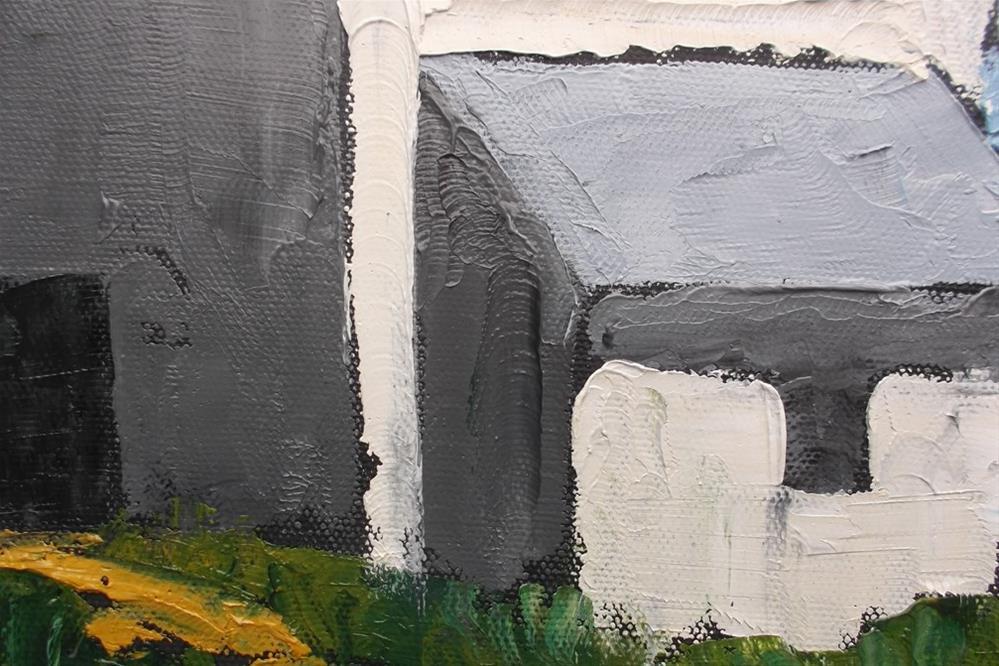 """""""Pescadero Farm Barn"""" original fine art by lynne french"""