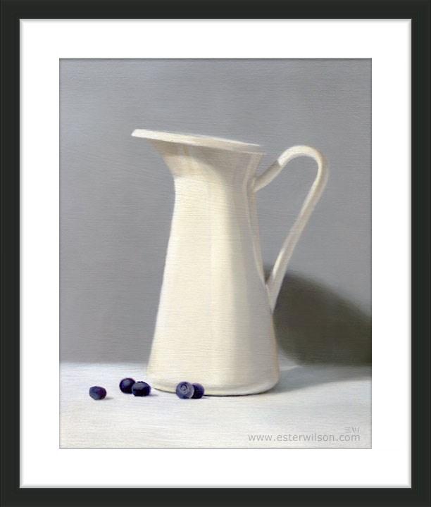 """Blueberries and Cream"" original fine art by Ester Wilson"