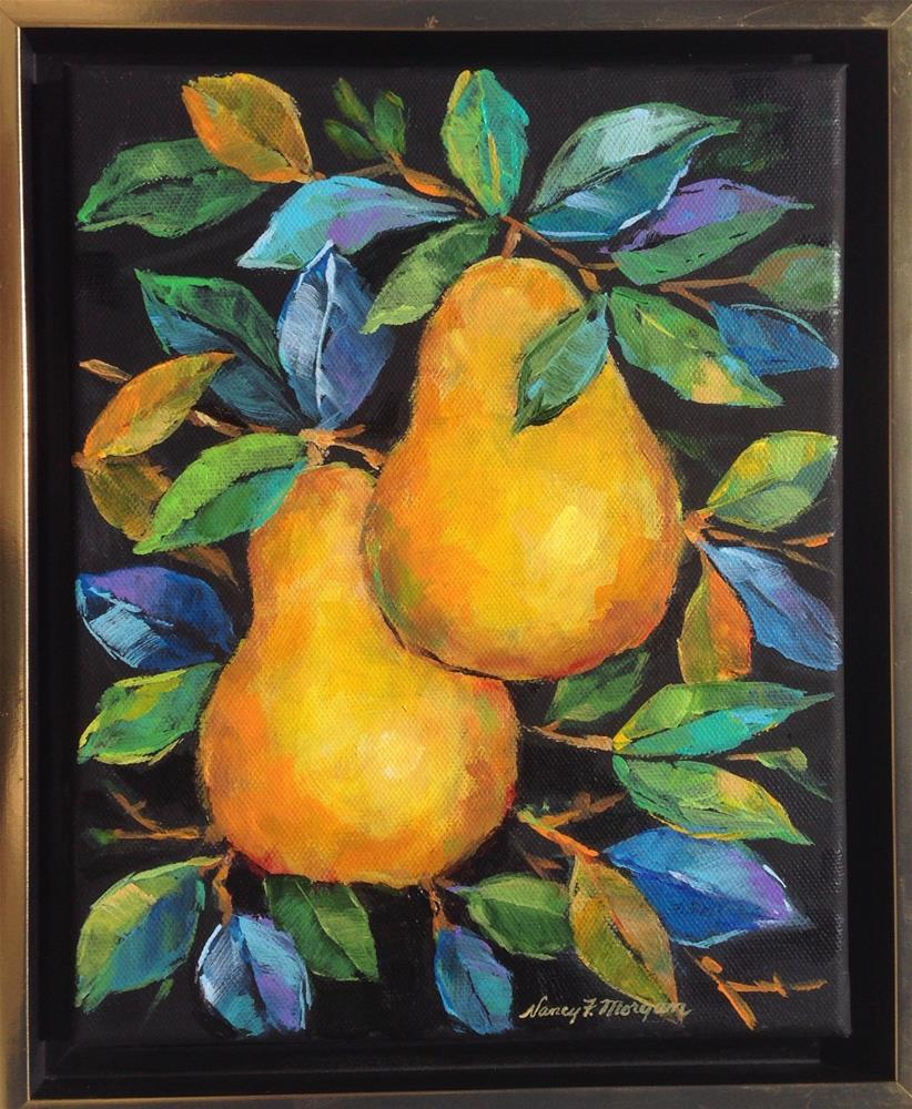 """Golden Pears"" original fine art by Nancy F. Morgan"