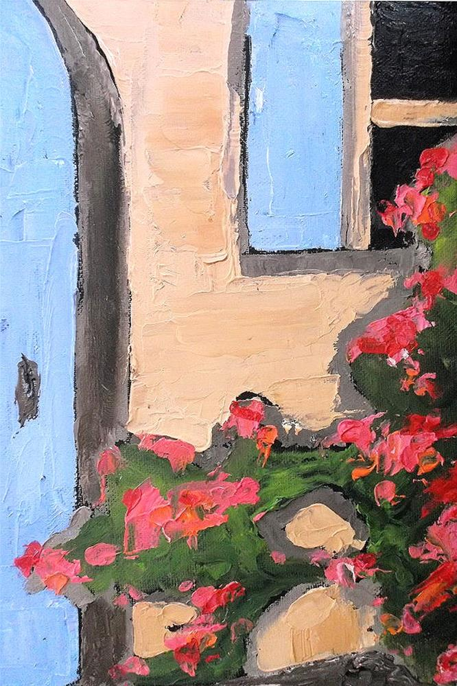 """Provence Blue Door"" original fine art by lynne french"