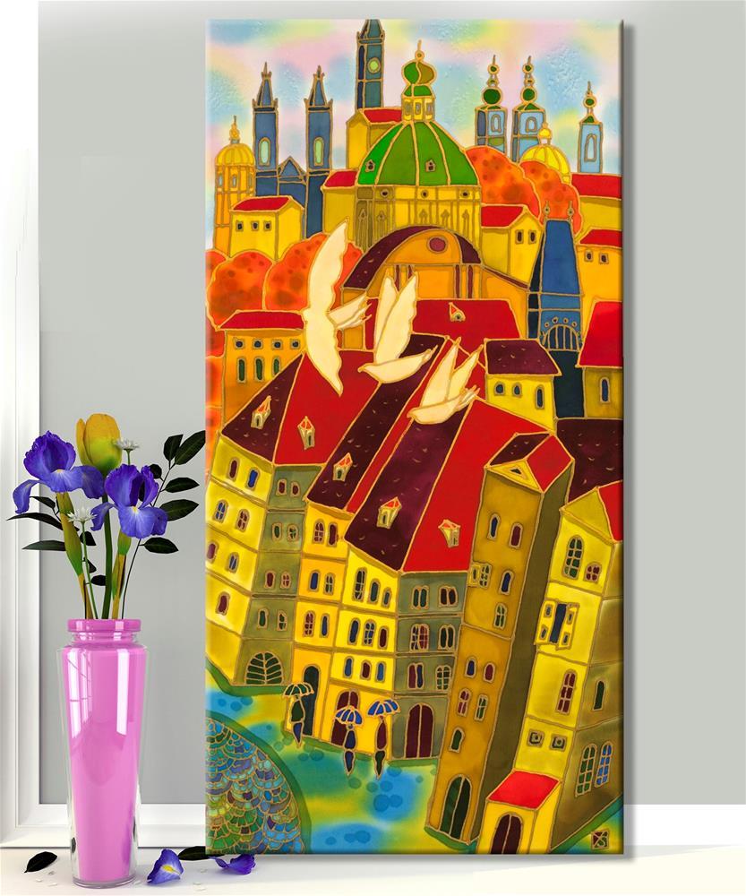 """Old Town Prague"" original fine art by Yelena Sidorova"