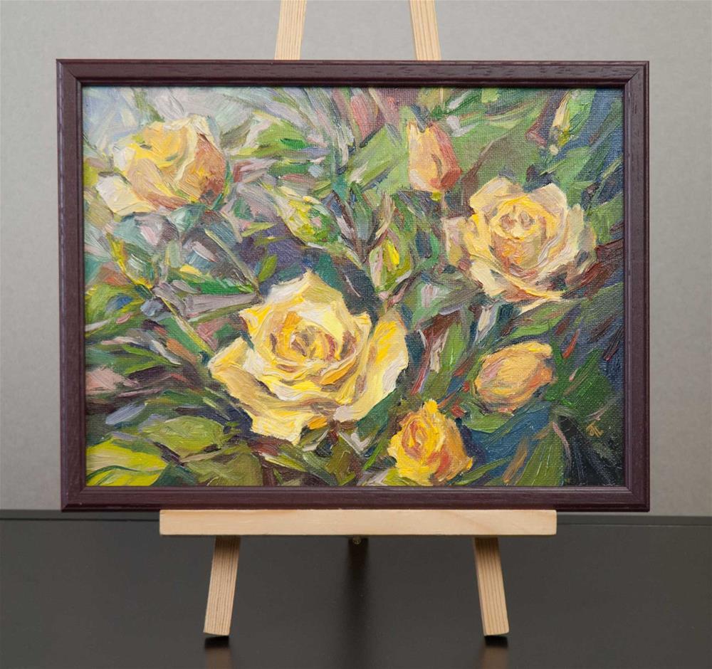 """""""Yellow roses"""" original fine art by Olga Touboltseva-Lefort"""