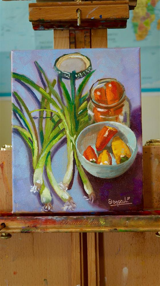 """Peppers and onion"" original fine art by Dipali Rabadiya"
