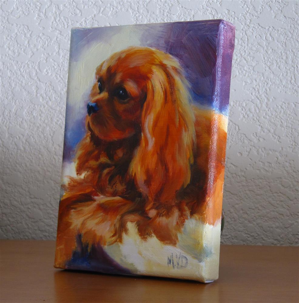 """RubyBaby"" original fine art by Mary Van Deman"