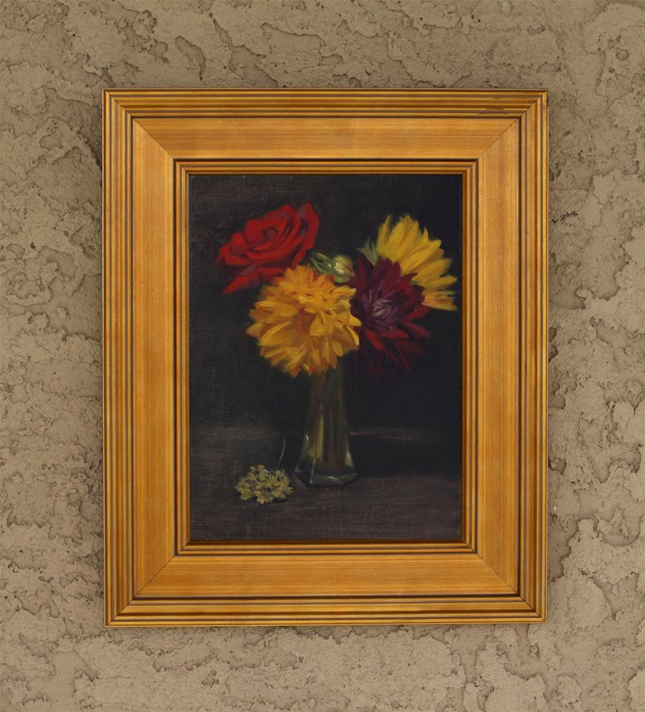 """Vase Full of Color (framed)"" original fine art by Pamela Poll"