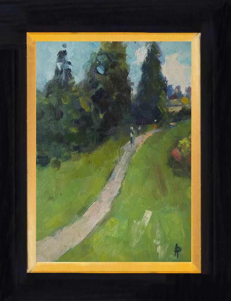 """""""Path at Scotney Castle"""" original fine art by Andre Pallat"""