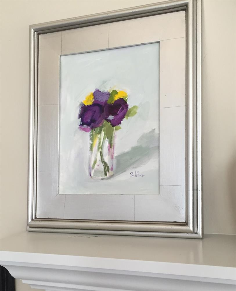 """purple with yellow II"" original fine art by Pamela Munger"