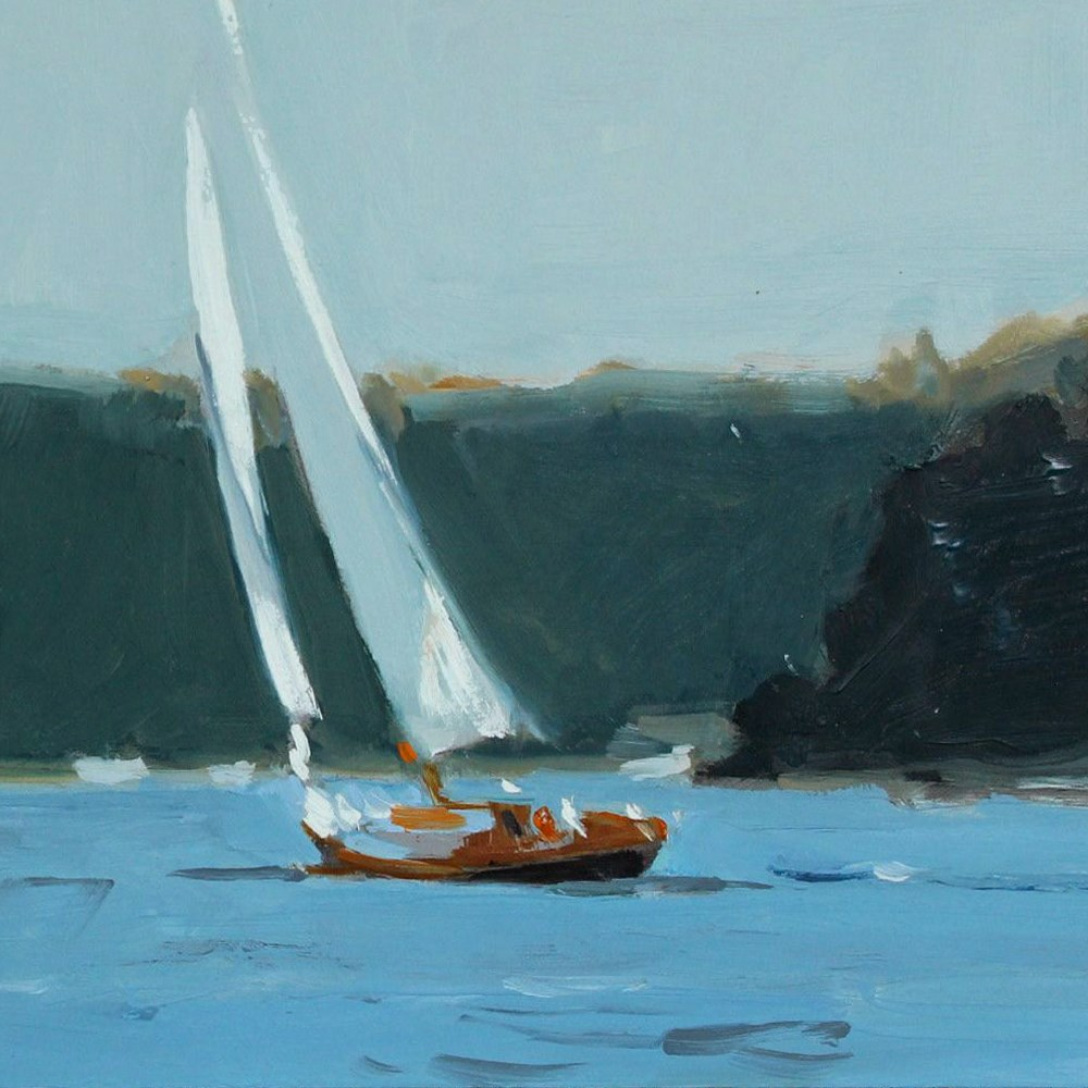 """Sailing Around Vashon"" original fine art by Gretchen Hancock"