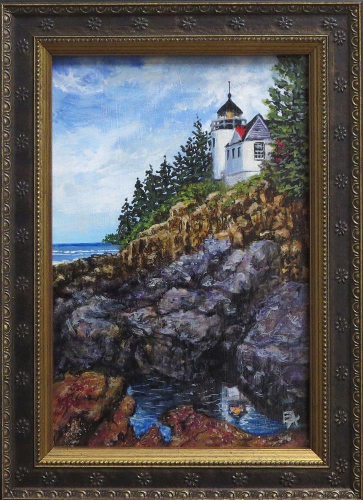 """""""Keeping Ships Safe (framed) half price"""" original fine art by Elizabeth Elgin"""