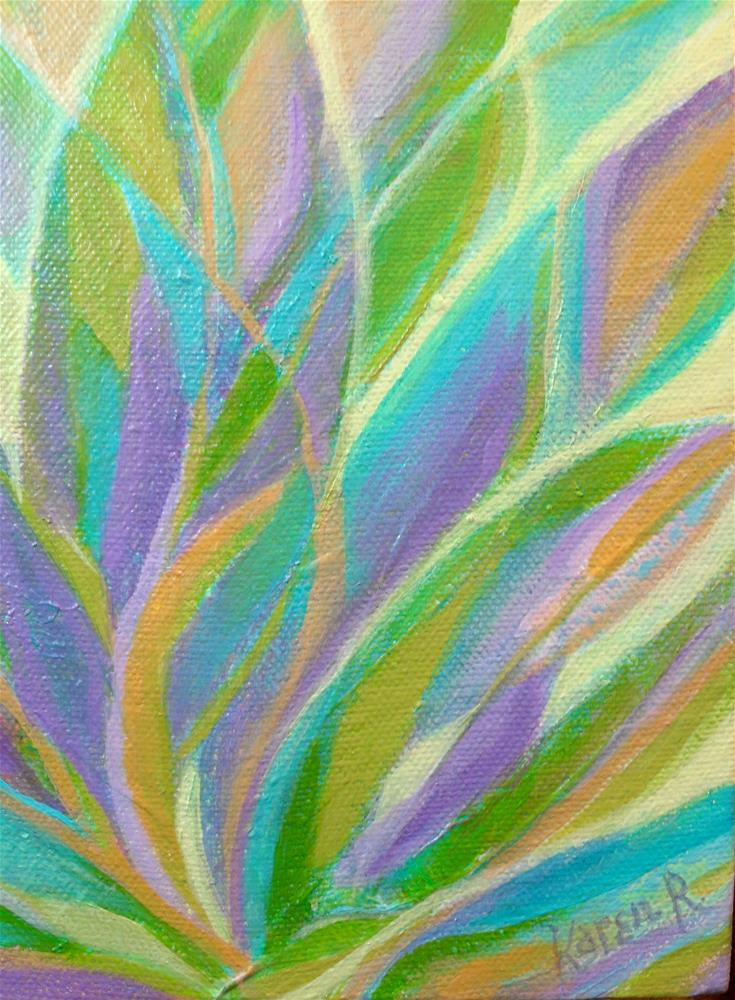 """Agave Valley"" original fine art by Karen Roncari"