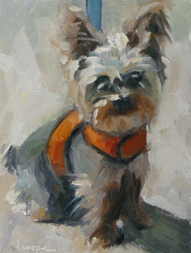 """Beckham"" original fine art by Dana Cooper"