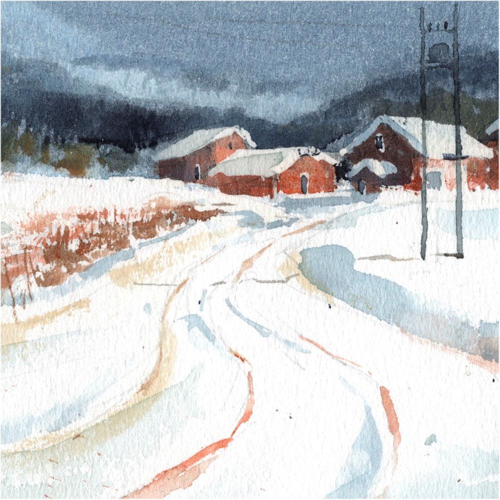 """""""Snowy 20"""" original fine art by Emilio López"""