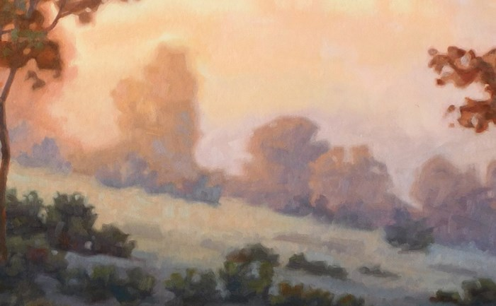 """Fading Summer Light"" original fine art by Les Dorscheid"