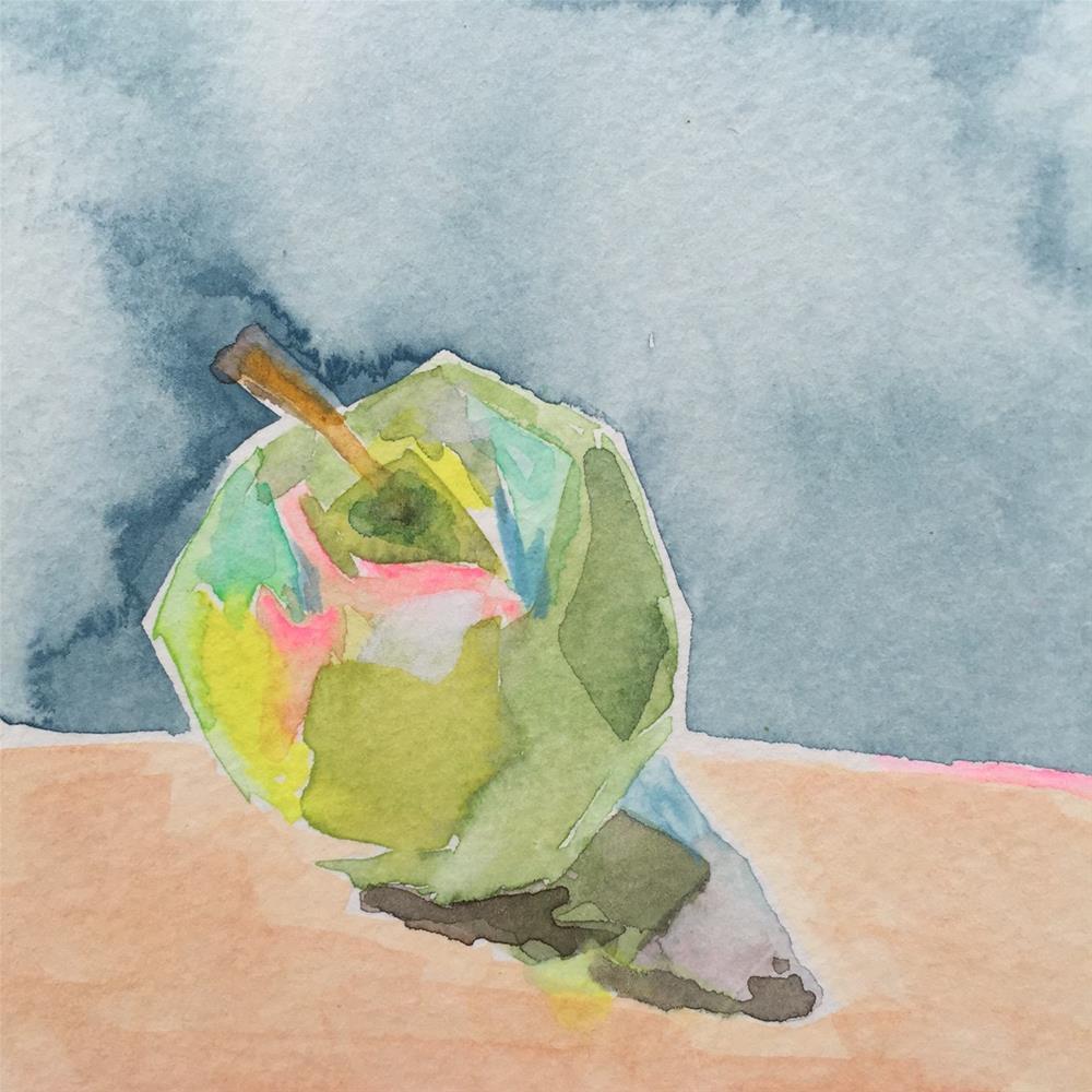 """190 Granny Smith"" original fine art by Jenny Doh"