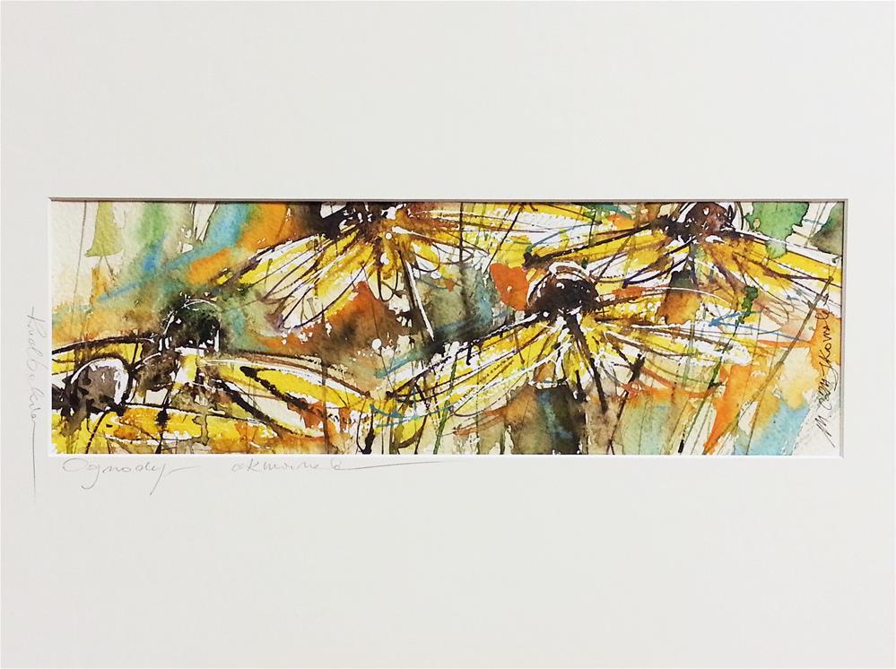 """Rudbeckia 4"" original fine art by Marlena Czajkowska"