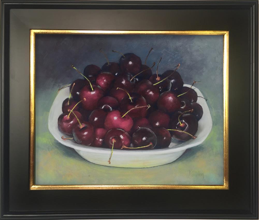 """Life's A Bowl of Cherries"" original fine art by Pamela Hamilton"
