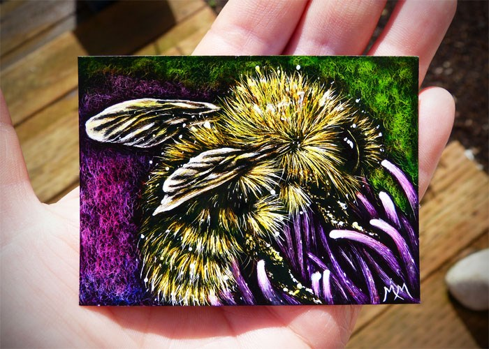 """Pollination - SA102"" original fine art by Monique Morin Matson"