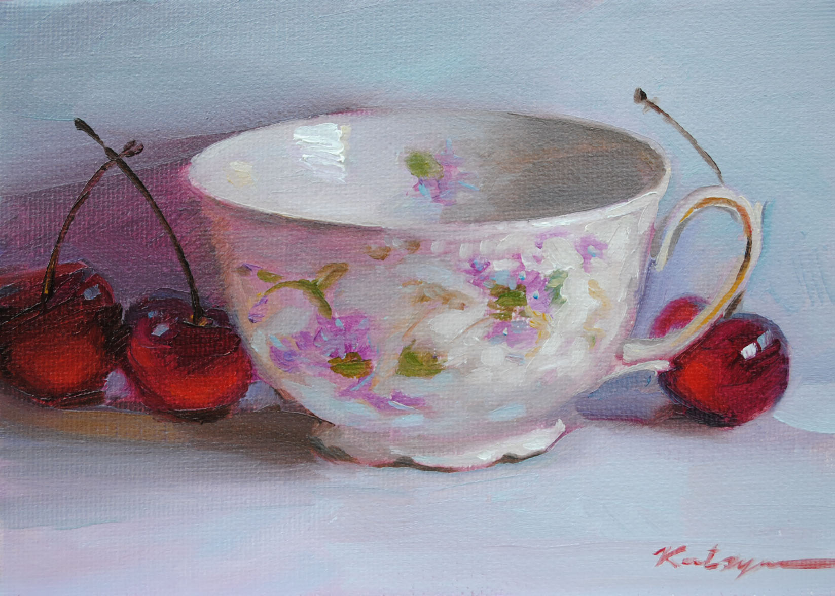 """Flower Cup"" original fine art by Elena Katsyura"