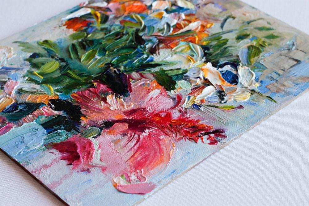 """""""Fall Flowers Bouquet"""" original fine art by Anna  Fine Art"""