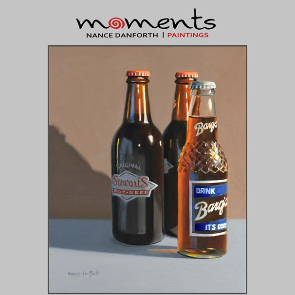 """Root Beer Bottles"" original fine art by Nance Danforth"