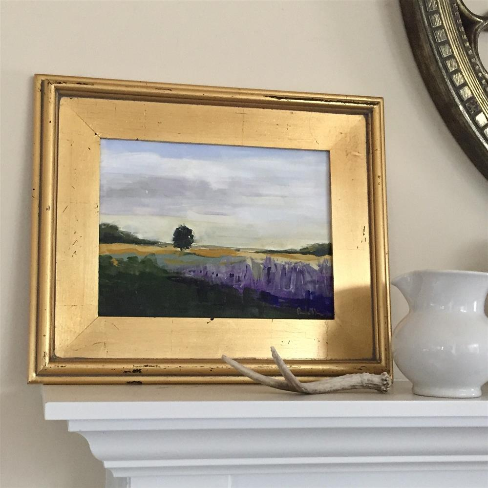 """Lavender Field"" original fine art by Pamela Munger"