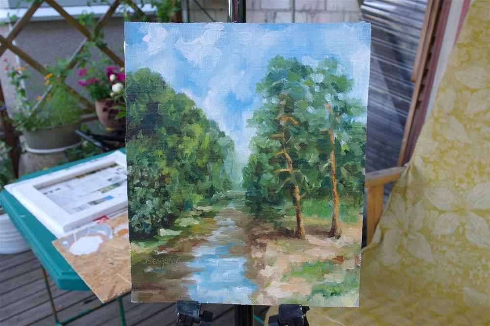 """summer river"" original fine art by Yuriy Semyonov"