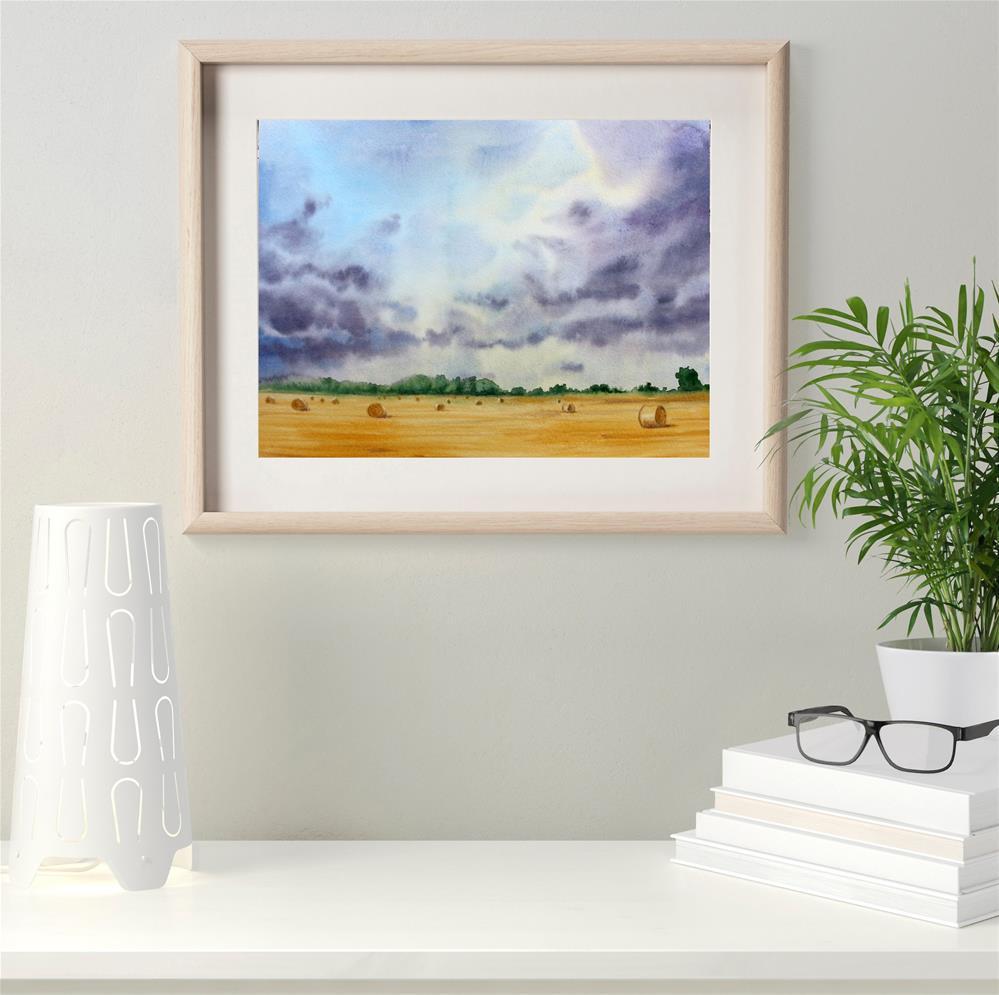 """Rural Scenery"" original fine art by Olga Beliaeva"