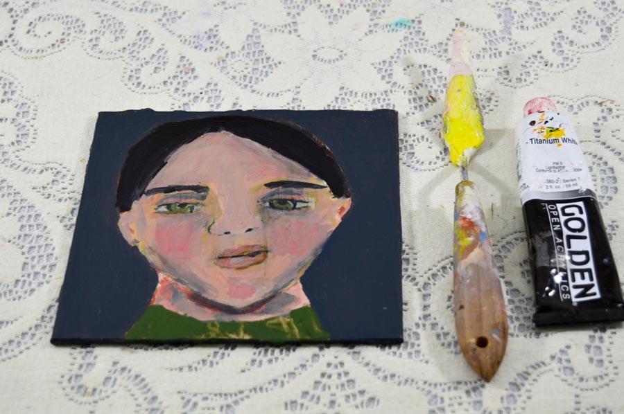 """""""Schoolboy"""" original fine art by Katie Jeanne Wood"""