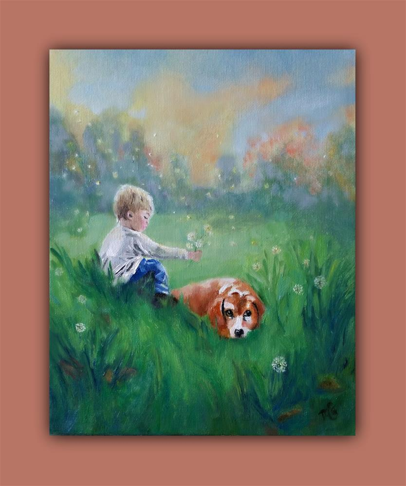 """Best Friends"" original fine art by Dana C"