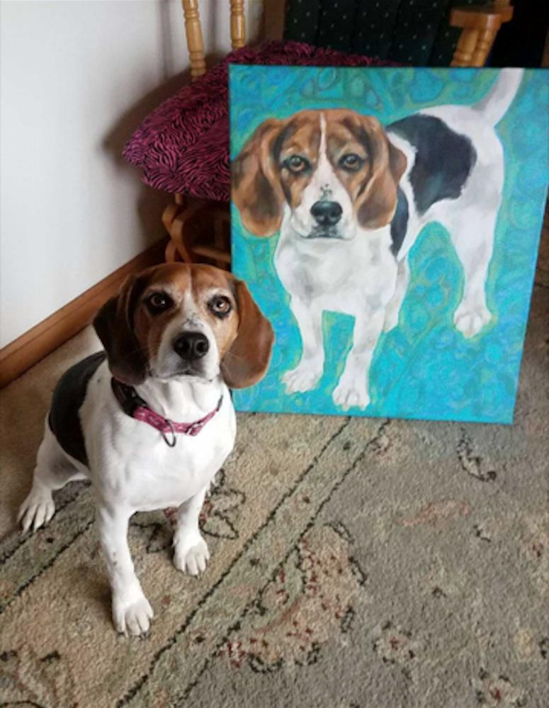 """Beagle"" original fine art by Kathy Hiserman"